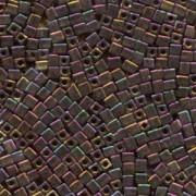 Miyuki Würfel Beads, Cube, Square Beads 3mm 0462 metallic rainbow Gold - Violet - Green 25gr
