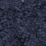 Miyuki Würfel Beads, Cube, Square Beads 3mm 2001 metallic matt Blue - Grey 20gr