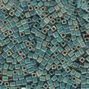 Miyuki Würfel Beads, Cube, Square Beads 3mm 2008 metallic rainbow matt Turquoise - Light Green 20gr