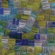 Miyuki Würfel Beads 3mm Mix06 Lagoon ca 20 Gr.