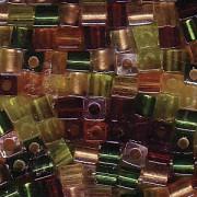 Miyuki Würfel Beads 3mm Mix07 Earthtone ca 25 Gr.