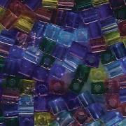 Miyuki Würfel Beads 3mm Mix14 Gemtones ca 25 Gr.