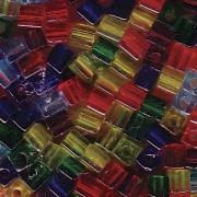 Miyuki Würfel Beads 3mm Mix16 Rainbow ca 25 Gr.