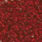 Miyuki Würfel Beads, Cube, Square Beads 4mm 0010 transparent silverlined Christmas Red 20gr