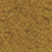 Miyuki Würfel Beads, Cube, Square Beads 4mm 0132F transparent matt Light Gold 25gr