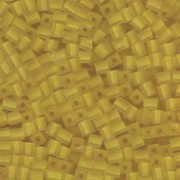 Miyuki Würfel Beads, Cube, Square Beads 4mm 0136F transparent matt Yellow 25gr