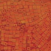 Miyuki Würfel Beads, Cube, Square Beads 4mm 0138F transparent matt Orange 20gr