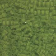 Miyuki Würfel Beads, Cube, Square Beads 4mm 0143F transparent matt Lime 25gr