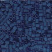 Miyuki Würfel Beads, Cube, Square Beads 4mm 0149F transparent matt Cobalt 20gr