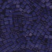 Miyuki Würfel Beads, Cube, Square Beads 4mm 0151F transparent matt Dark Cobalt 20gr