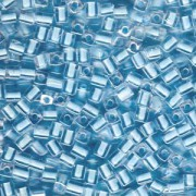 Miyuki Würfel Beads, Cube, Square Beads 4mm 0220 insinde colorlined Ice Blue 20gr