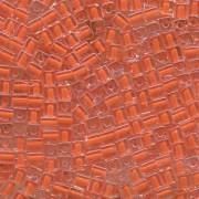 Miyuki Würfel Beads, Cube, Square Beads 4mm 0236 insinde colorlined Orange 25gr