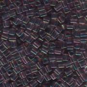Miyuki Würfel Beads, Cube, Square Beads 4mm 0256 transparent rainbow Light Amethyst 20gr