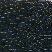 Miyuki Würfel Beads, Cube, Square Beads 4mm 0452 metallic rainbow Midnight Blue 20gr