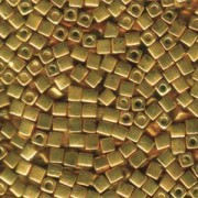 Miyuki Würfel Beads, Cube, Square Beads 4mm 1053 galvanized Gold 20gr