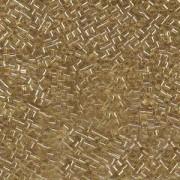 Miyuki Würfel Beads, Cube, Square Beads 1,8mm 0003 transparent silverlined Gold 12gr