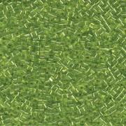 Miyuki Würfel Beads, Cube, Square Beads 1,8mm 0014 transparent silverlined Lime Green 12gr