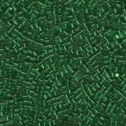 Miyuki Würfel Beads, Cube, Square Beads 1,8mm 0016 transparent silverlined Kelly Green 12gr