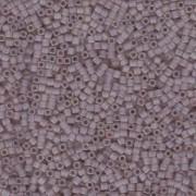 Miyuki Würfel Beads, Cube, Square Beads 1,8mm 0142FR transparent rainbow matt Amethyst 12gr