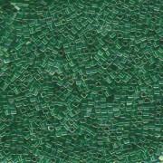 Miyuki Würfel Beads, Cube, Square Beads 1,8mm 0179 transparent rainbow Green Gold 12gr