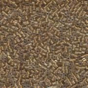 Miyuki Würfel Beads, Cube, Square Beads 1,8mm 0234 insinde colorlined Gold 12gr