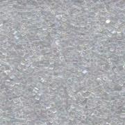 Miyuki Würfel Beads, Cube, Square Beads 1,8mm 0250 transparent rainbow Clear 12gr