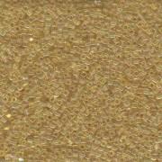 Miyuki Würfel Beads, Cube, Square Beads 1,8mm 0251 transparent rainbow Light Gold 12gr