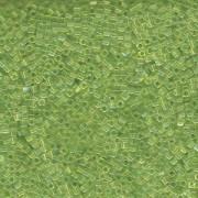 Miyuki Würfel Beads, Cube, Square Beads 1,8mm 0258 transparent rainbow Lime Green 12gr
