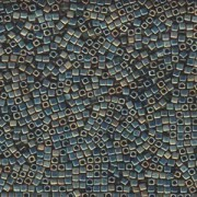 Miyuki Würfel Beads, Cube, Square Beads 1,8mm 2008 metallic rainbow matt Turquoise Light Green 12gr