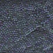 Miyuki Würfel Beads, Cube, Square Beads 1,8mm 2064 metallic rainbow matt Blue Green 12gr