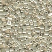 Miyuki Würfel Beads, Cube, Square Beads 3mm 1051 galvanized Silver 20gr