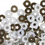 O-Beads 2x4mm 2403000-22671 matt Chalk White Valentinite ca 8,1gr