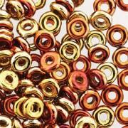 O-Beads 2x4mm 2423980-98542 Jet California Gold Rush beschichtet ca 8,1gr