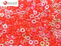 O-Beads 2x4mm 2493200-28701 rainbow opaque Red  ca 8,1gr
