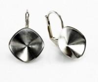 Ohrhaken für Stein 4470 12mm versilbert 1 Paar