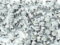 Pellet Beads 4x6mm Crystal full Chrome 50 Stück