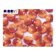Piggy Beads 4x8mm Orange Rot 50 Stück