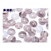 Piggy Beads 4x8mm Lila meliert 50 Stück