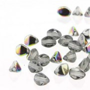 Pinch Beads 5x3mm Crystal Vitrail 50 Stück