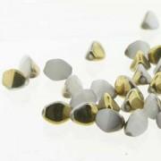Pinch Beads 5x3mm White Amber 50 Stück