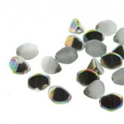 Pinch Beads 5x3mm White Vitrail 50 Stück