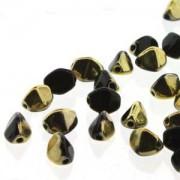 Pinch Beads 5x3mm Jet Amber 50 Stück