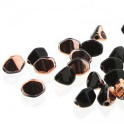 Pinch Beads 5x3mm Jet Capri Gold 50 Stück