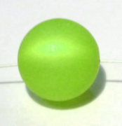 Polarisperle 18mm apfelgrün 1 Stück