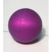 Polarisperle 18mm lila 1 Stück