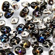 SuperDuo Perlen 2,5x5mm Crystal Helio DU0500030-29536 ca 24gr