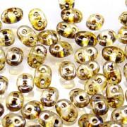 SuperDuo Perlen 2,5x5mm Crystal Picasso DU0500030-43400 ca 24gr