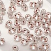 SuperDuo Perlen 2,5x5mm copper lined Crystal DU0500030-68105 ca 24gr