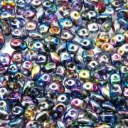 SuperDuo Perlen 2,5x5mm magic blue pink Crystal DU0500030-95100 ca 24gr