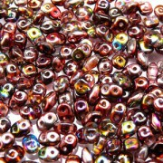 SuperDuo Perlen 2,5x5mm magic red brown Crystal DU0500030-95200 ca 24gr